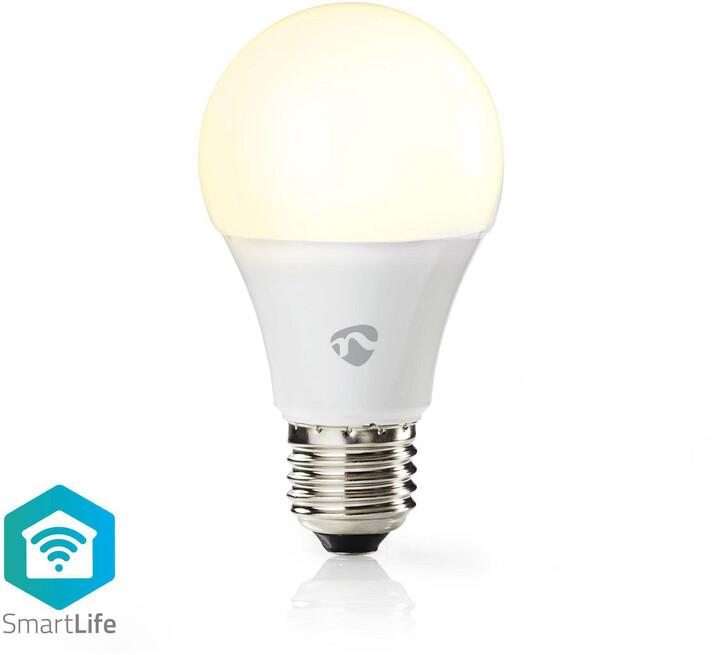 Nedis Wi-Fi chytrá LED žárovka, teplá bílá, E27, 800 lm, 9W, A+