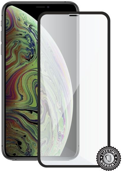 Screenshield ochrana displeje Tempered Glass pro Apple iPhone Xs Max, černá
