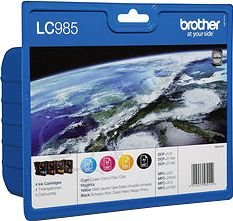 Brother LC-985, sada inkoustů - black, magenta, yellow, cyan