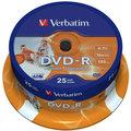Verbatim DVD-R Printable (Inkjet) 16x 4,7GB spindl 25ks
