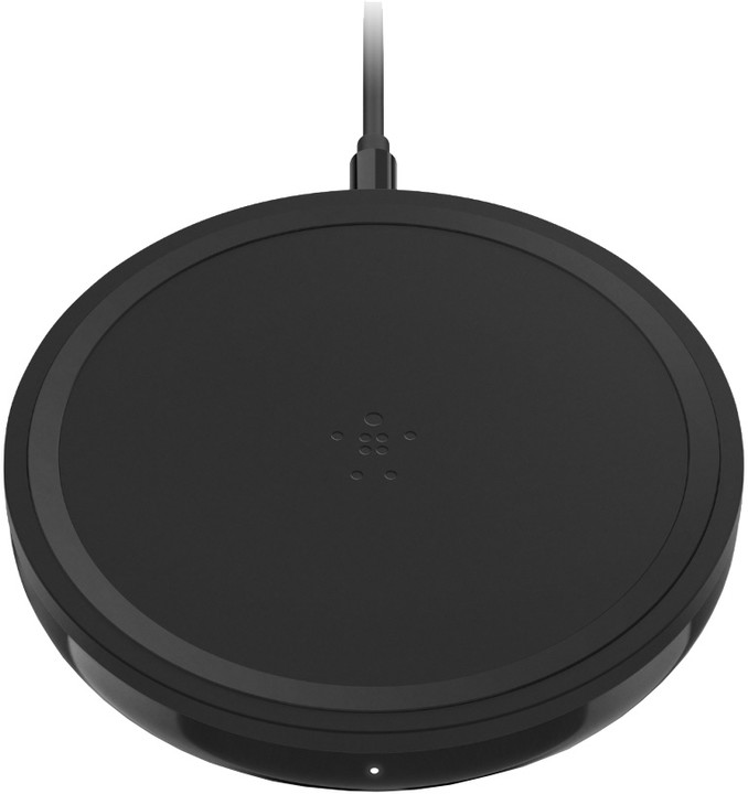 Belkin 230V bezdrátová Qi plochá nabíječka, černá