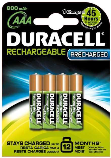 Duracell Stay Charge AAA - 800 mAh, 4ks