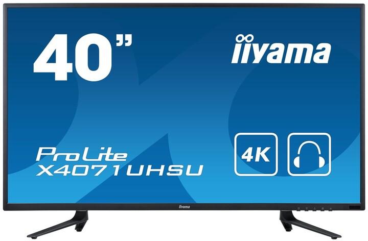 "iiyama ProLite X4071UHSU-B1 - LED monitor 40"""