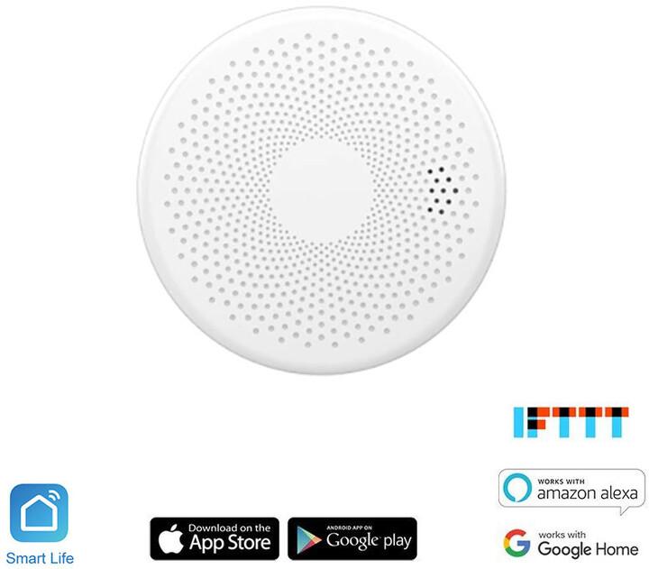 iQtech SmartLife Combo CO + Kouřový detektor, CS01W, Wi-Fi