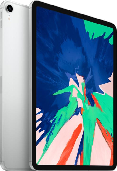 """Apple iPad Pro Wi-Fi + Cellular, 11"""" 2018, 256GB, stříbrná"""
