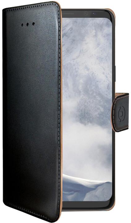CELLY Wally pouzdro typu kniha pro Samsung Galaxy S9 Plus, PU kůže, černé