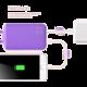 ROMOSS Lovely Elf Purple, 6000mAh, fialová