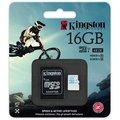 Kingston Action Card Micro SDHC 16GB Class 10 UHS-I U3 + SD adaptér