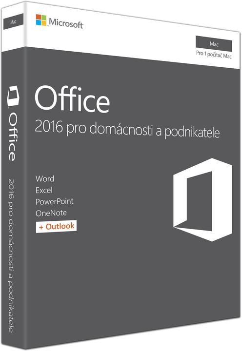 Microsoft Office Mac 2016 pro domácnosti a podnikatele