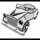 Stavebnice Fleg - Auto z kartonu, papírové