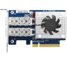 QNAP QXG-10G2SF-CX4 dvouportová síťová rozšiřující karta 10GbE SFP+ pro PC i QNAP NAS