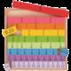 Školní pomůcka Bigjigs Didaktická tabulka: Zlomky, dřevěná