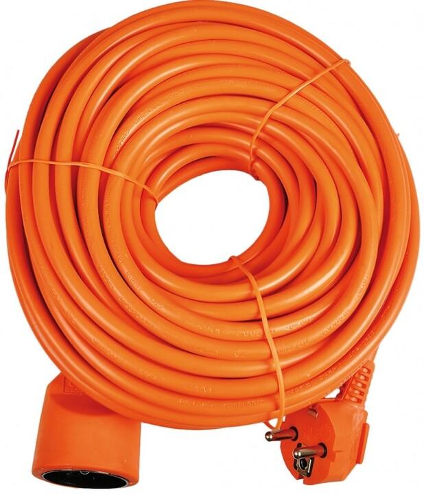 Sencor prodlužovací přívod, 1 zásuvka, 30m, oranžová