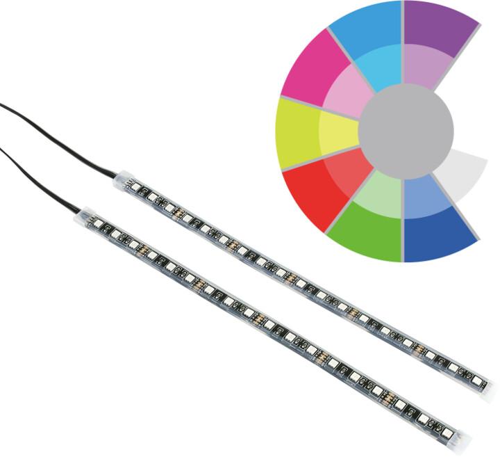 SilentiumPC led pásky Aurora RGB-302, 2 pásky 30cm, 8 barev