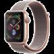 Apple Watch series 4, 44mm, pouzdro ze zlatého hliníku/růžový provlékací řemínek