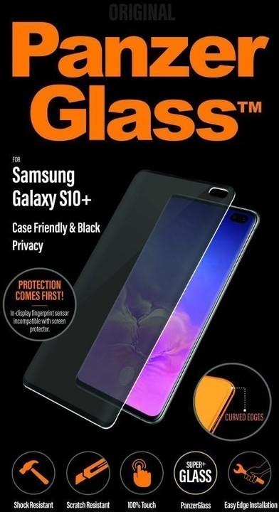 PanzerGlass Premium Privacy pro Samsung Galaxy S10+, černá