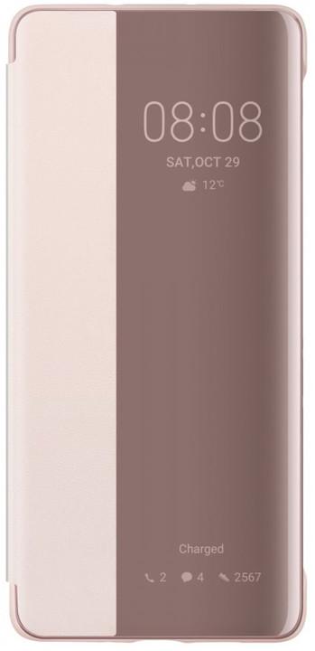 Huawei Original S-View pouzdro pro P30 Pro, růžová