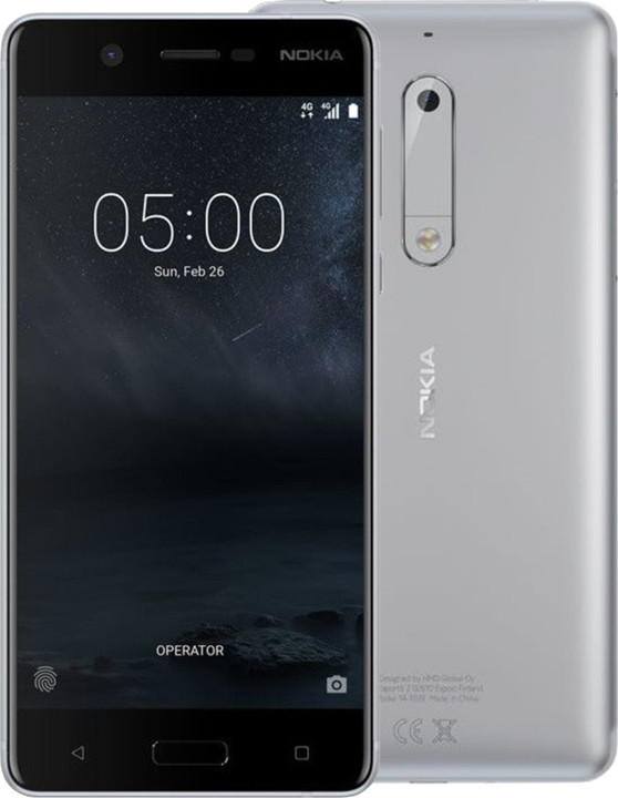 Nokia 5, Single Sim, stříbrná