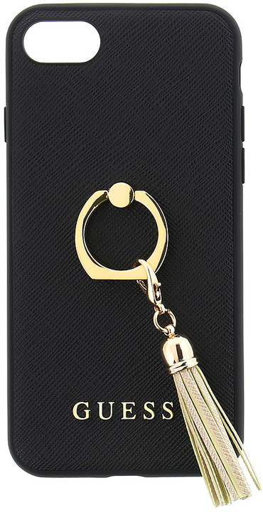 GUESS Saffiano Ring zadní kryt pro iPhone 7/8, Black