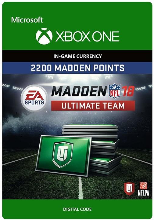 Madden NFL 18 - 2200 MUT Points (Xbox ONE) - elektronicky