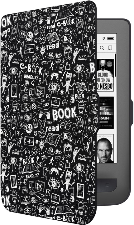CONNECT IT Doodle pouzdro pro PocketBook 624/ 626, černá