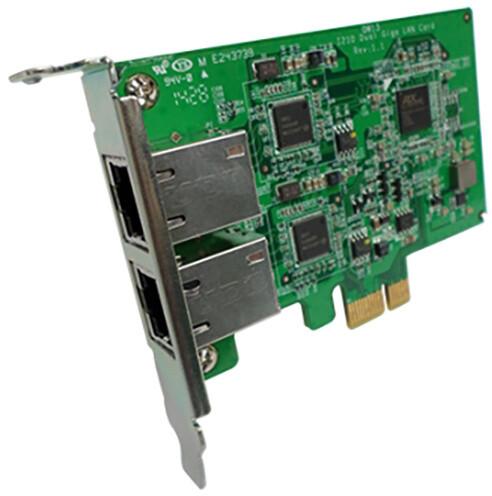 QNAP LAN-1G2T-I210 - síťová rozšiřující karta sítě 1 GbE se dvěma porty