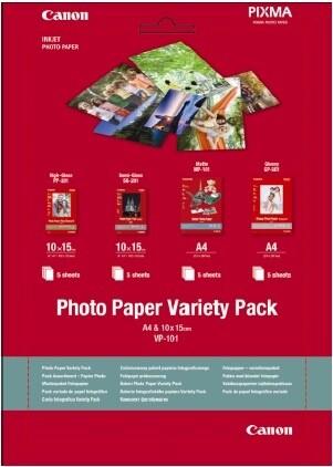 Canon Foto papír VP-101, A4, 10x15 cm, Variety pack