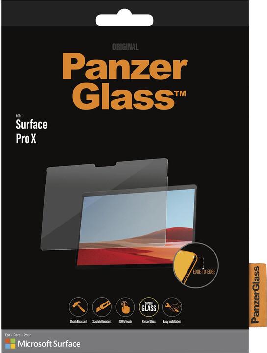 PanzerGlass Edge-to-Edge pro Microsoft Surface Pro X, čirá
