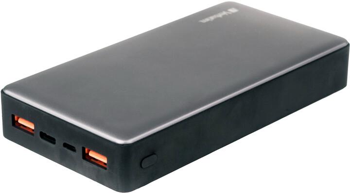 Verbatim powerbanka 20000mAh, 2x USB-A 3.0 + USB-C, PD, QC, kovová, stříbrná
