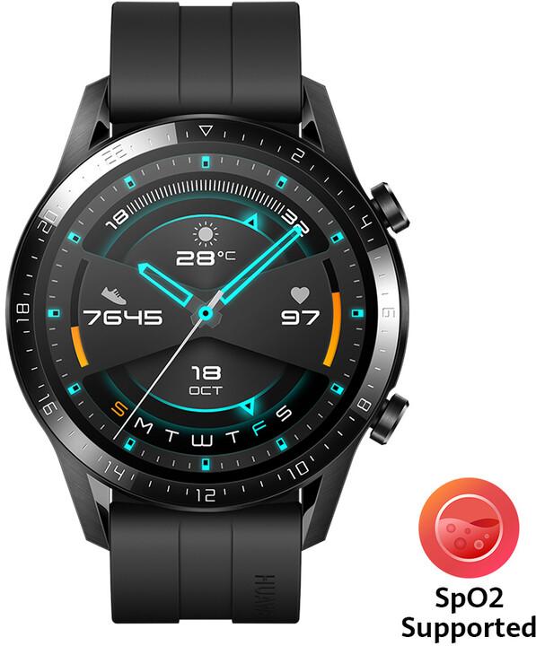 Huawei Watch GT 2 Fluoroelastomer Strap, Black