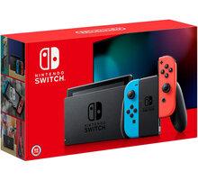 Nintendo Switch (2019), červená/modrá - NSH006