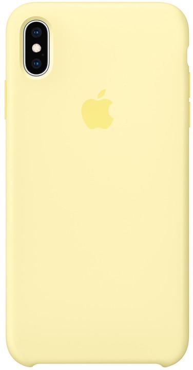 Apple silikonový kryt na iPhone XS Max, jemné žlutá