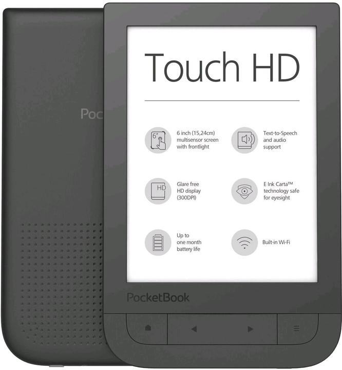 PocketBook 631 Touch HD, černá