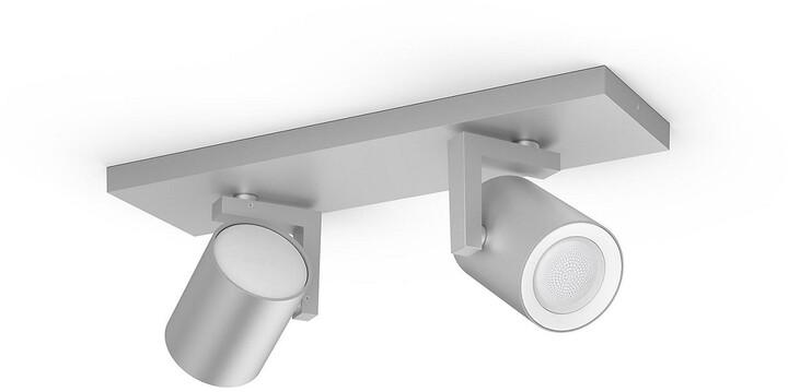 Philips svítidlo Hue Argenta GU10, 2x 5.7W, Bluetooth, hliník
