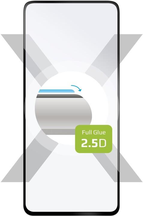 FIXED ochranné tvrzené sklo pro Xiaomi Poco X3, Full-Cover, 2.5D, černá