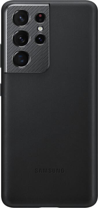 Samsung kožený kryt pro Galaxy S21 Ultra, černá
