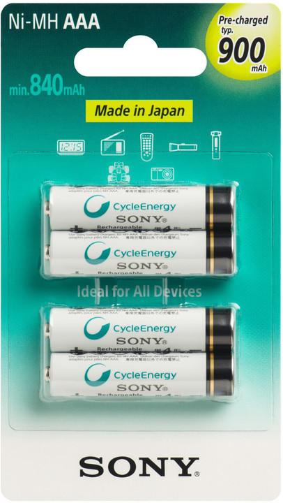 Sony NiMH nabíjecí baterie AAA / 900 mAh / 4 ks v blistru