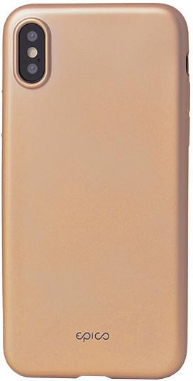 EPICO GLAMY pružný plastový kryt pro iPhone X - zlatý