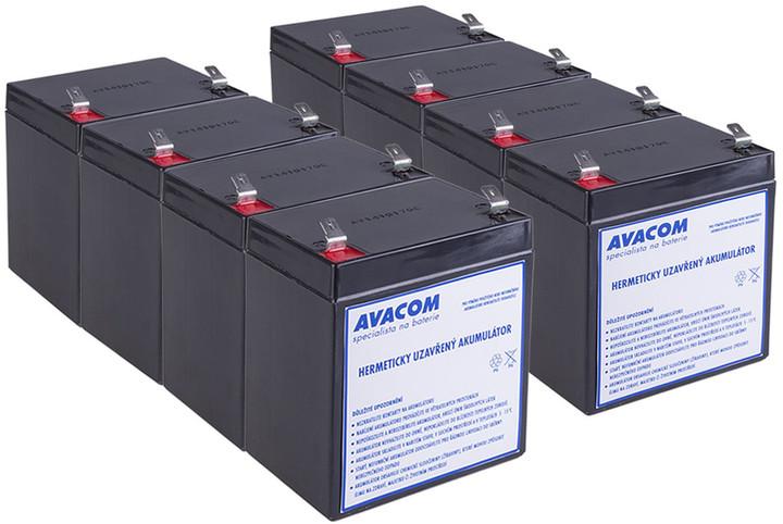 Avacom náhrada za RBC43 (8ks) - baterie pro UPS