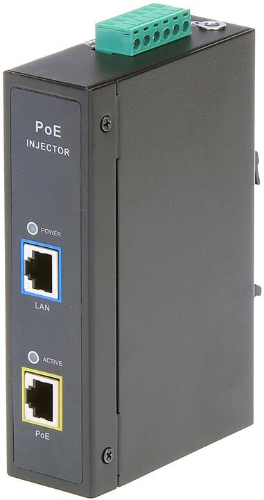 MaxLink PoE injektor DIN30 - 802.3af/at, 55V/0.55A, 30W, 1Gbit