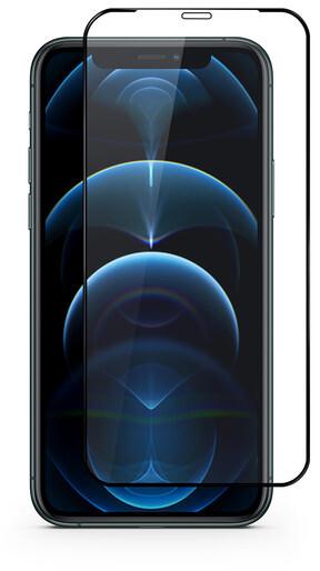 """EPICO tvrzené sklo Edge to Edge pro iPhone 12/12 Pro (6.1""""), antibakteriální, 0.3mm, černá"""