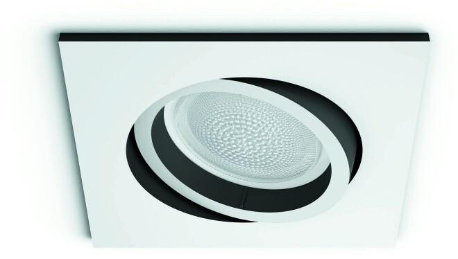 Philips zápustné svítidlo Hue Centura GU10, 7.5W, hranaté, bílá