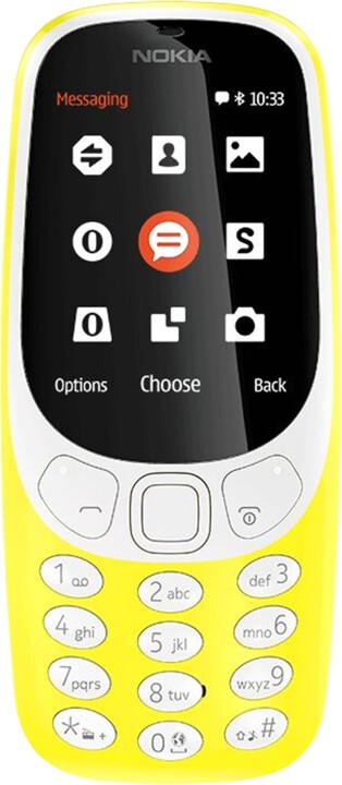 Nokia 3310, Single Sim, žlutá
