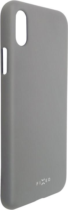 FIXED zadní silikonový kryt Story pro Huawei P30, šedá