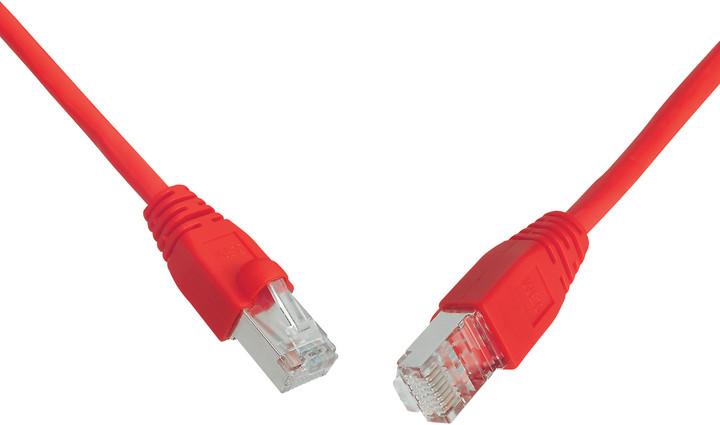 Solarix Patch kabel CAT5E SFTP PVC 0,5m červený snag-proof