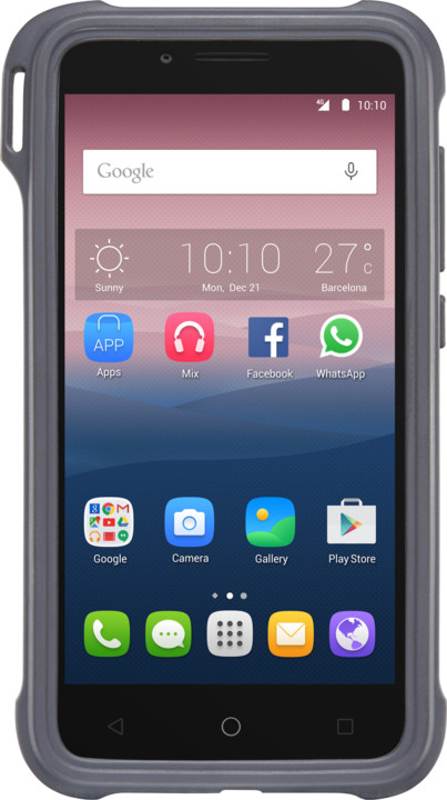 ALCATEL ONETOUCH GO PLAY Rubber Case, Grey