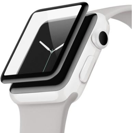 Belkin ochranné sklo pro Apple Watch Series 2/3, zahnuté, voděodolné, (38mm)