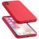 CellularLine ochranný silikonový kryt SENSATION pro iPhone X, červený