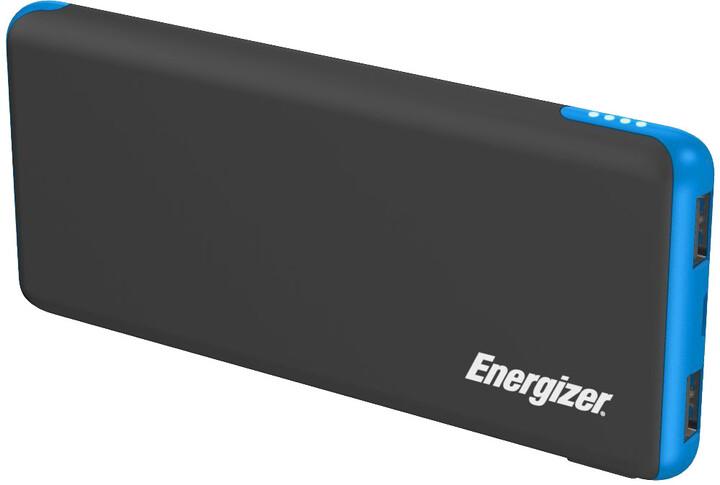 Energizer powerbanka 10000mAh, 5V, 2.1A, černá