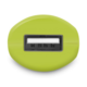 CONNECT IT InCarz COLORZ auto adaptér 1xUSB 2,1A, zelená (V2)